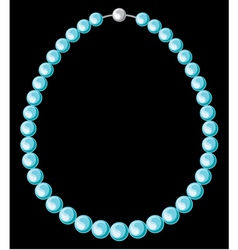 Turquoise pearl necklace vector image