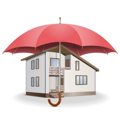 Umbrella and House vector image