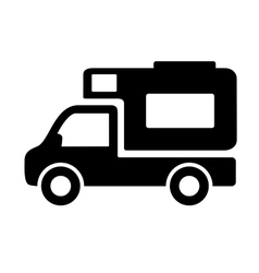 Vehicles camper vans caravans icon vector