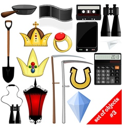 drawing of a set of objects EPS10 vector image vector image