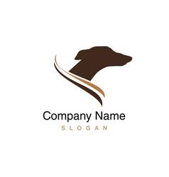 greyhound dog logo vector image vector image
