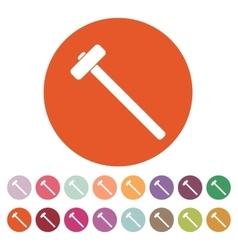 The sledgehammer icon Sledgehammer symbol vector image