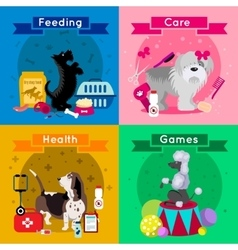 Dogs Breed Flat Icon Set vector image vector image