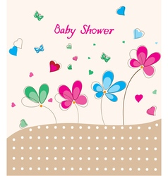 floral baby shower vector image