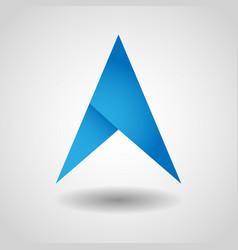 gps arrow navigation icon vector image