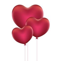 Heart Shaped Balloons3 vector image vector image