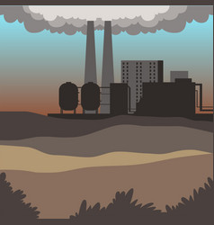 industrial buildings modern city landscape vector image