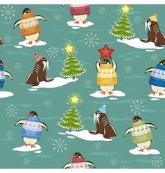 Arctic Christmas vector image