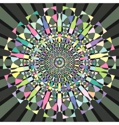 circular decorative geometric pattern vector image vector image
