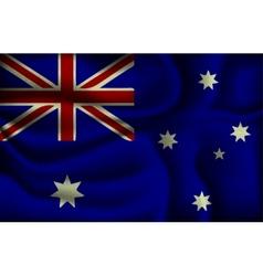 crumpled flag of Australia vector image vector image