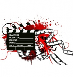 movie theme background vector image