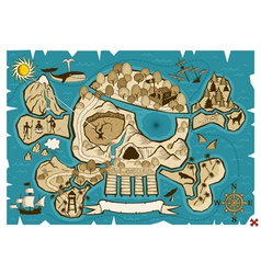 treasure map vector image vector image
