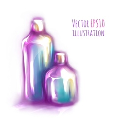 two bottles on white vector image vector image