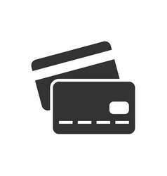 credit card black icon vector image