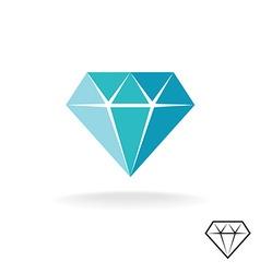 Diamond logo Blue diamond symbol Jewellery shop vector image vector image
