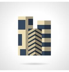Floor carpets flat color icon vector image