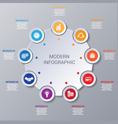 modern infographic numbered 9 options vector image