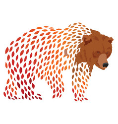 a cartoon bear stylized grizzly bear vector image