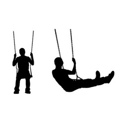 A man on a swing vector