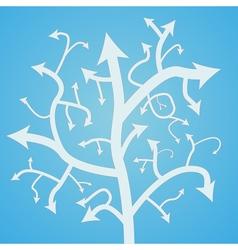 Abstract arrow tree vector