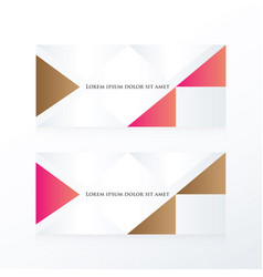 Abstract banner modern pink brown vector