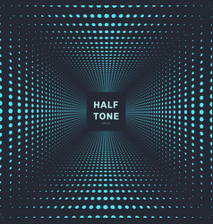 abstract blue color halftone room perspective vector image