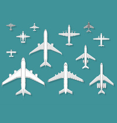 airplane top view plane vector image