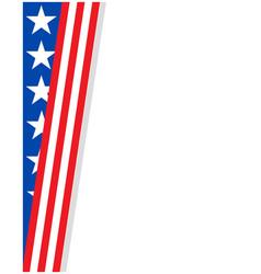 american corner frame with usa flag symbols vector image