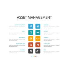 Asset management infographic 10 option concept vector
