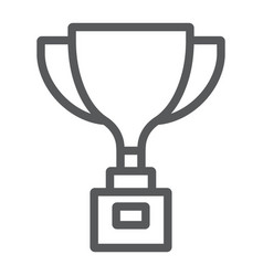 award cup line icon win and prize trophy cup vector image