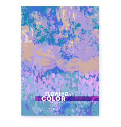 banner with hand painted canvas abstract vector image