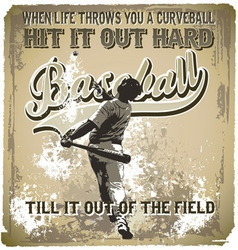 Baseball hit it out vector