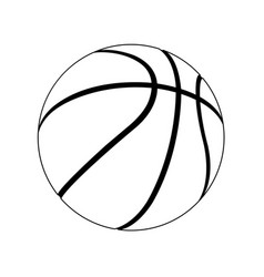 basketball layout vector image
