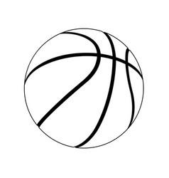 basketball layout vector image