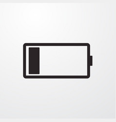 Battery low sign icon flat design style fo vector