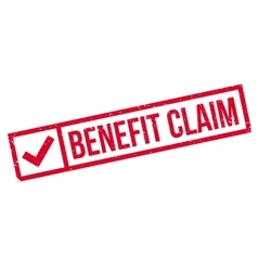 Benefit Claim rubber stamp vector image