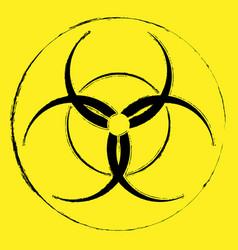 biohazard grunge symbol vector image