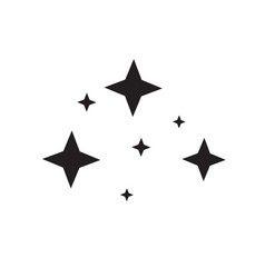 black glittering star light on white background vector image