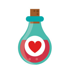 Bottle elixir love potion vector