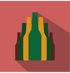 Bottles set flat icon vector image