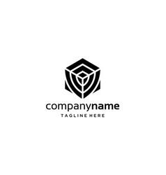 box safe logo design concept vector image