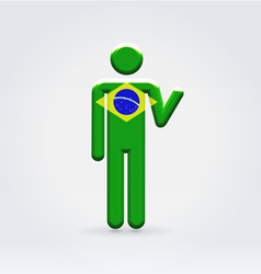 Brasilian symbolic citizen icon vector image