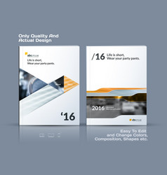 business template brochure design cover vector image