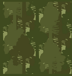 camo forest olive woods seamless pattern vector image