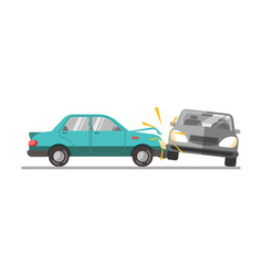 car accident on a road vector image