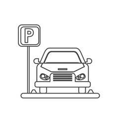Car vehicle and parking zone design vector image