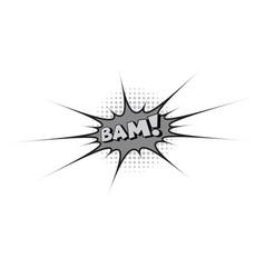 Comic text pop art style vector