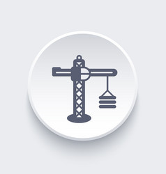 construction crane icon vector image