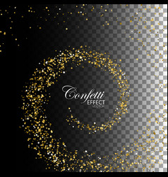 decoration confetti element for design vector image