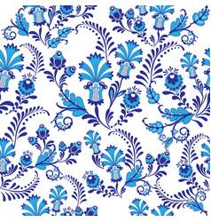 decorative composition blue flowers vector image